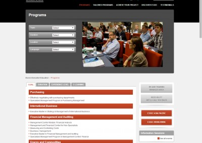 ESSEC Executive Education programme portfolio