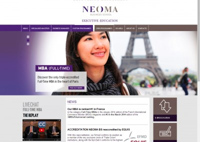 NEOMA Business School Executive Education website