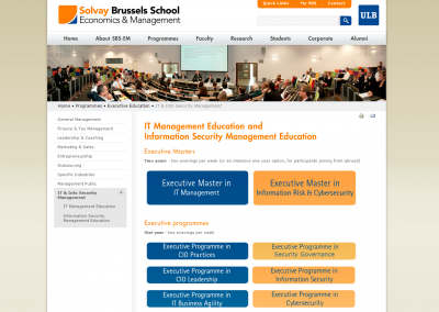 Solvay executive programme profiles