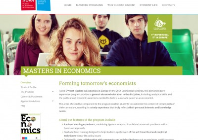 Nova School of Business and Economics online programme portfolio